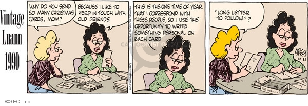 Comic Strip Greg Evans  Luann 2009-12-21 holiday tradition