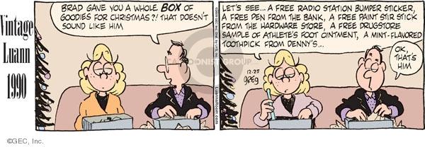 Comic Strip Greg Evans  Luann 2009-12-25 give