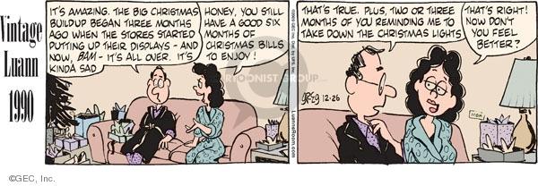 Comic Strip Greg Evans  Luann 2009-12-26 feel