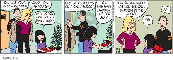 Comic Strip Greg Evans  Luann 2009-12-28 gift giving