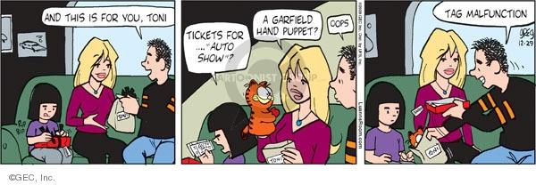 Comic Strip Greg Evans  Luann 2009-12-29 gift giving