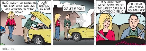 Comic Strip Greg Evans  Luann 2010-01-04 automobile