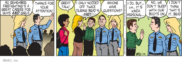 Comic Strip Greg Evans  Luann 2010-01-14 Brad