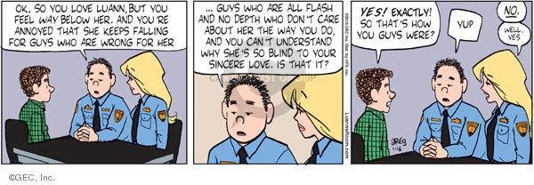 Comic Strip Greg Evans  Luann 2010-01-16 well