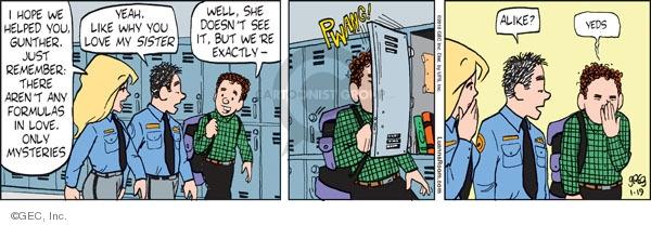 Comic Strip Greg Evans  Luann 2010-01-19 formula