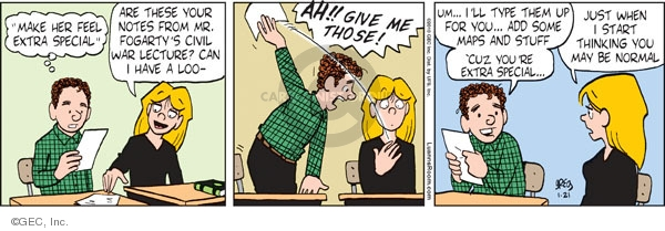 Comic Strip Greg Evans  Luann 2010-01-21 give