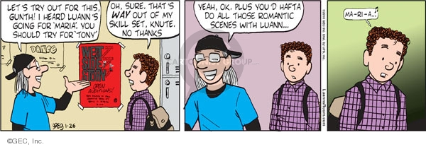 Comic Strip Greg Evans  Luann 2010-01-26 theater