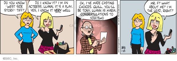 Comic Strip Greg Evans  Luann 2010-01-29 theater