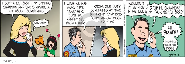 Comic Strip Greg Evans  Luann 2010-02-01 Brad