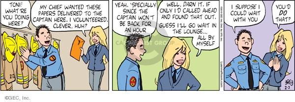 Comic Strip Greg Evans  Luann 2010-02-03 volunteer