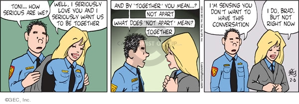 Comic Strip Greg Evans  Luann 2010-02-06 Brad