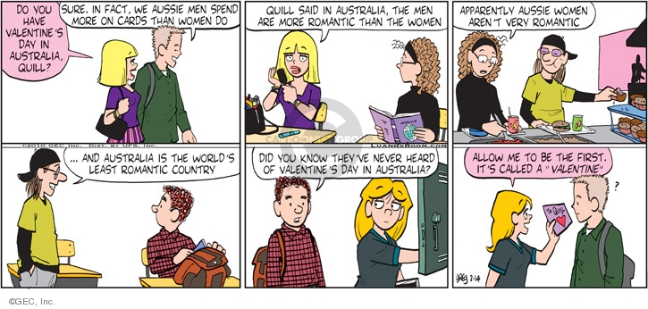 Comic Strip Greg Evans  Luann 2010-02-14 Australia