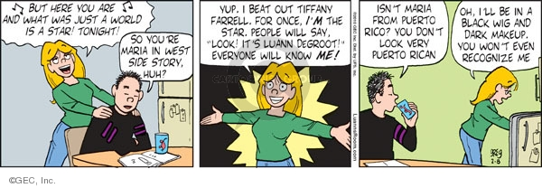 Comic Strip Greg Evans  Luann 2010-02-08 win