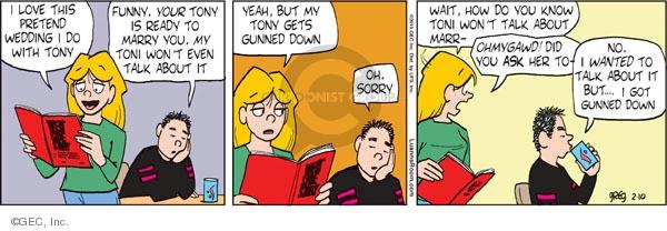 Comic Strip Greg Evans  Luann 2010-02-10 romance
