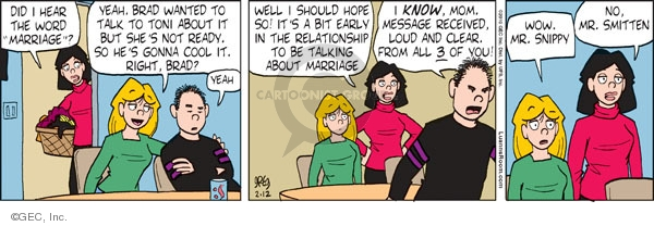 Comic Strip Greg Evans  Luann 2010-02-12 Brad