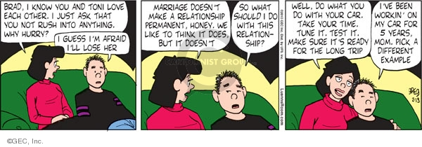Comic Strip Greg Evans  Luann 2010-02-13 Brad
