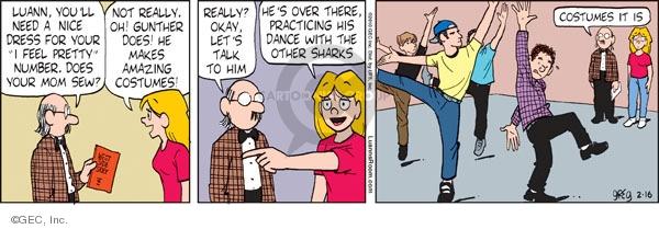 Comic Strip Greg Evans  Luann 2010-02-16 him