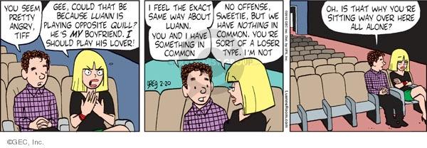 Comic Strip Greg Evans  Luann 2010-02-20 sweetie