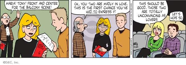 Cartoonist Greg Evans  Luann 2010-02-24 first love