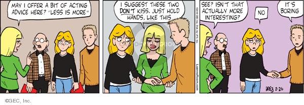 Comic Strip Greg Evans  Luann 2010-02-26 drama