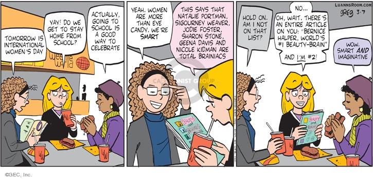 Comic Strip Greg Evans  Luann 2010-03-07 imagination