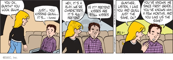 Comic Strip Greg Evans  Luann 2010-03-01 affection