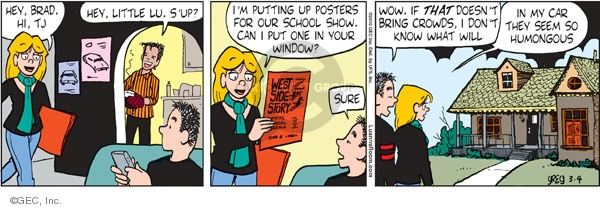 Comic Strip Greg Evans  Luann 2010-03-04 Brad