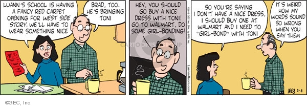 Comic Strip Greg Evans  Luann 2010-03-08 Brad