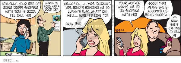 Comic Strip Greg Evans  Luann 2010-03-09 Brad