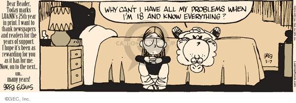 Comic Strip Greg Evans  Luann 2010-03-18 anniversary