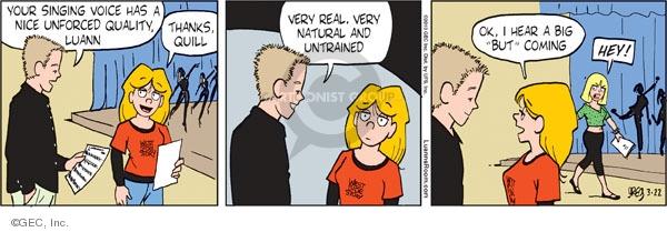 Comic Strip Greg Evans  Luann 2010-03-22 theater