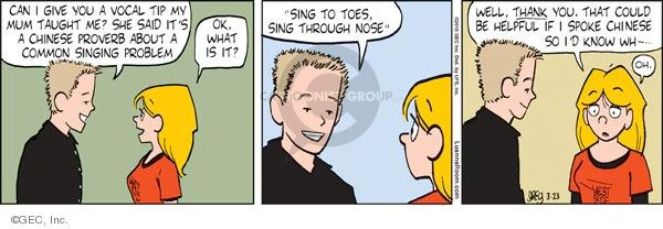 Comic Strip Greg Evans  Luann 2010-03-23 drama