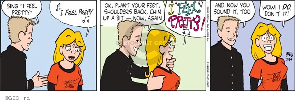 Comic Strip Greg Evans  Luann 2010-03-24 theater play