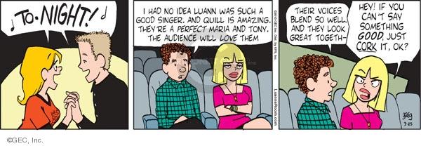Comic Strip Greg Evans  Luann 2010-03-25 drama