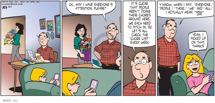 Comic Strip Greg Evans  Luann 2010-04-11 week