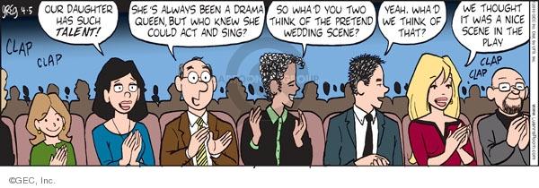 Comic Strip Greg Evans  Luann 2010-04-05 school play