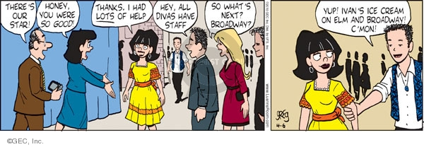 Comic Strip Greg Evans  Luann 2010-04-06 school play