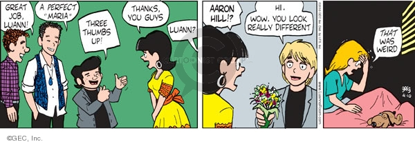 Comic Strip Greg Evans  Luann 2010-04-10 teenager sleep