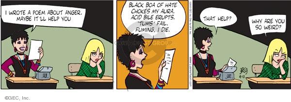 Comic Strip Greg Evans  Luann 2010-04-13 irate