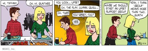 Comic Strip Greg Evans  Luann 2010-04-14 irate