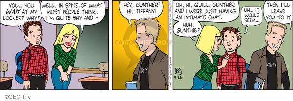 Comic Strip Greg Evans  Luann 2010-04-26 school locker