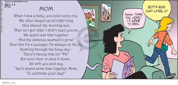 Comic Strip Greg Evans  Luann 2010-05-09 older