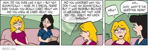 Comic Strip Greg Evans  Luann 2010-05-25 feel