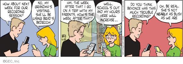 Comic Strip Greg Evans  Luann 2010-05-29 school week