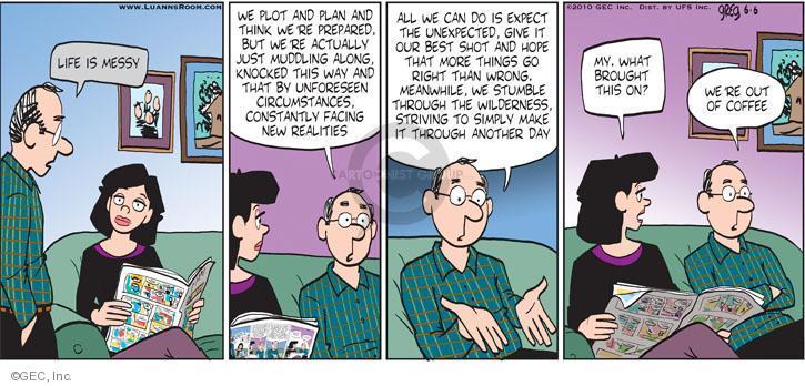 Comic Strip Greg Evans  Luann 2010-06-06 reality