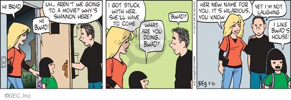 Comic Strip Greg Evans  Luann 2010-05-31 tag