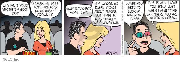 Comic Strip Greg Evans  Luann 2010-06-09 Brad