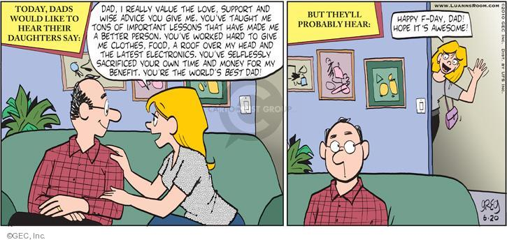Comic Strip Greg Evans  Luann 2010-06-20 father's day
