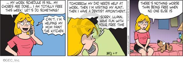 Comic Strip Greg Evans  Luann 2010-06-17 appointment
