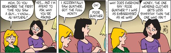 Comic Strip Greg Evans  Luann 2010-06-26 bare
